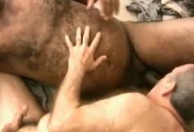 Encontro gay com homens maduros grisalhos
